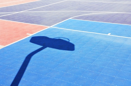 Tile cancha de baloncesto photo