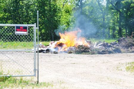 trespassing: Burning Trash