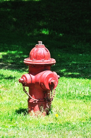 municipal utilities: Red Fire Hydrant