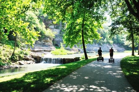 Bikepath by Waterfall