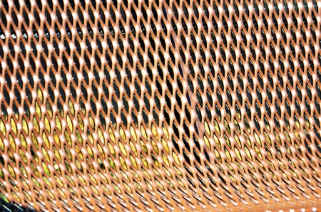 mesh: Brown Mesh Seat Stock Photo