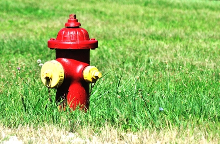Red and Yellow Hydrant