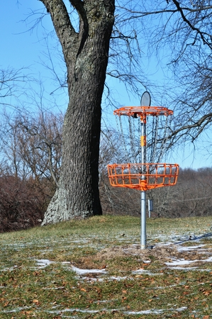 disc golf: flying disc Golf Stock Photo