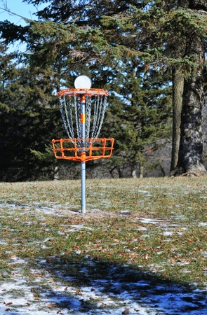 disc golf: flying disc Golf Stock Photo