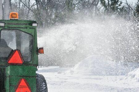 Snow Blower Stockfoto