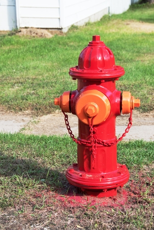 Freshly Painted Hydrant Stock Photo