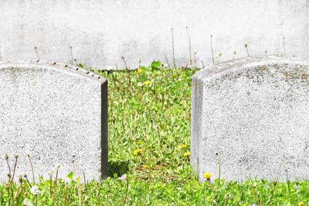 Tombstones in Cemetery