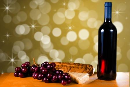 와인 빵과 치즈 파티 준비