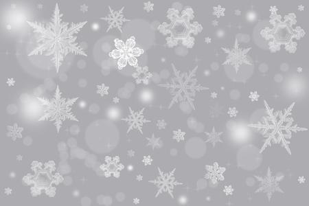 우아한 크리스마스 배경 그림 눈송이와 텍스트를위한 장소. 모든 휴일 배경에 좋습니다.
