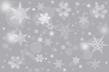 Elegant Christmas background illustration with snowflakes and place for text. Great for any Holiday backdrop.