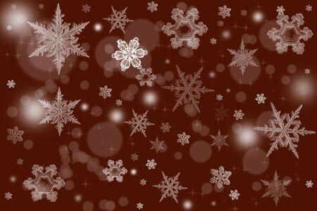 빨간색 배경 눈송이와 텍스트를위한 장소 우아한 크리스마스 배경 그림. 휴일 배경에 대 한 좋은입니다.
