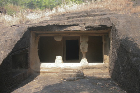 hindus: Ancient caves carved from stone in Mumbai Natonal Park