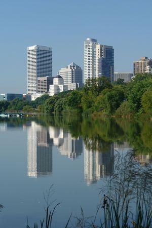 Milwaukee skyline from Lagoon