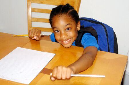 bookbag: Student getting ready for homework