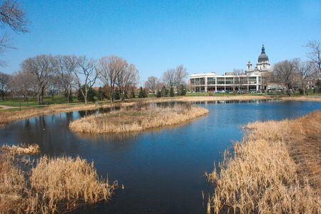 december:     December landscape with Pond