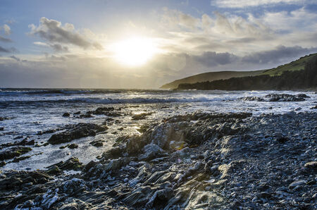 Sunny winter afternoon at Hannafore point Banco de Imagens - 27722358