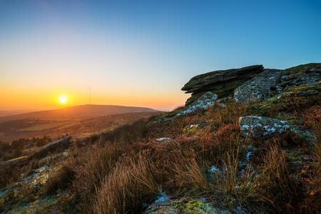 bodmin: Sunrise over Bodmin moor Stock Photo