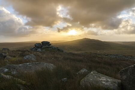 Sunrise at Brown Willy Tor , Cornwall, UK
