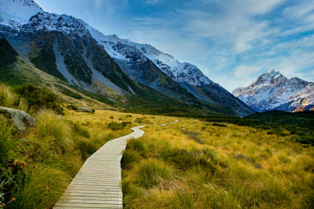 Boardwalk pathway through the valley in the National Park
