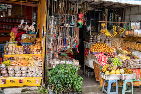 Street side Market Bazaar stall in Ubud Bali Indonesia