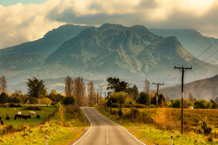 Rural rugged mountainous countryside of Ruatoria New Zealand