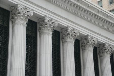 White roman pillars