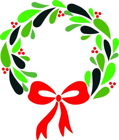 modern: Modern Christmas wreath