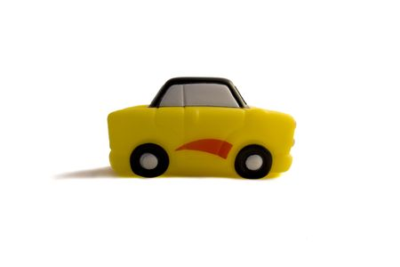 little yellow toy car photo