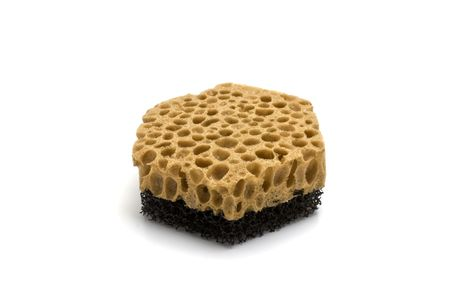 hygien: sponge on a white background