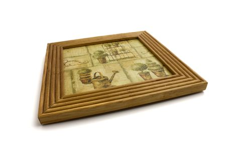 wooden napkin with a picture photo