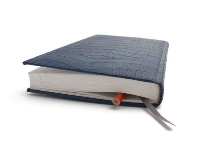 blue notebook isolated