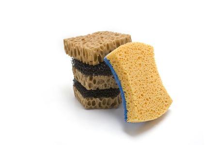 hygien: good sponge on a white background