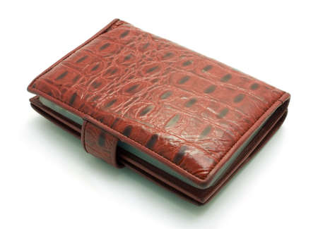 lacquered: red lacquered wallet isolated