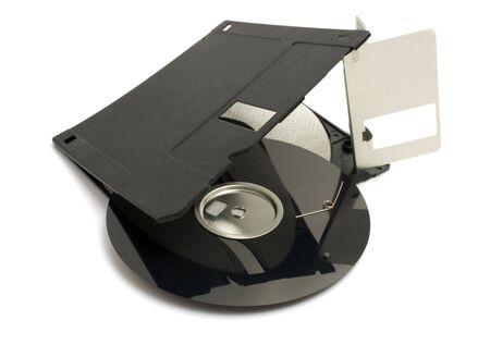 broken floppy disk photo