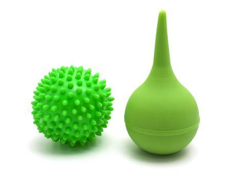 liesure: rubber pear  and green ball