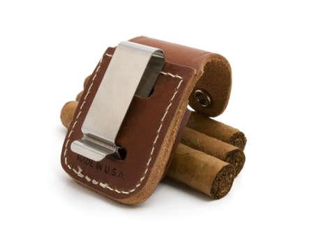 bag lighters and three cigar photo