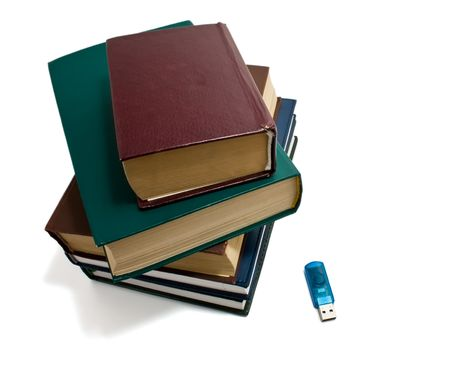 books and flash photo