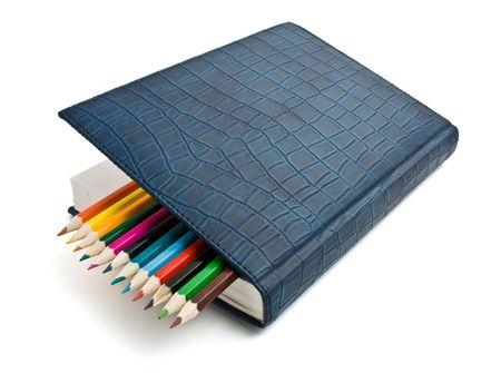 colored pencil and organizer photo