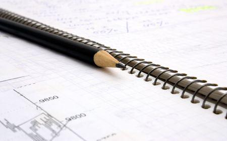 book trader and pencil photo