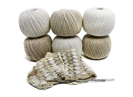 six balls wool photo
