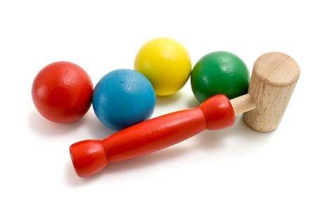 mallet: mallet toy Stock Photo