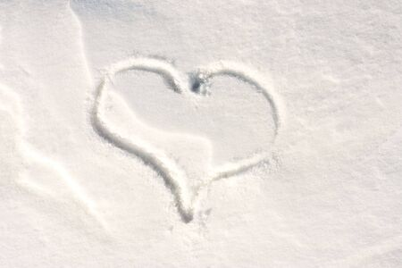 heart on the snow Stock Photo - 6600324
