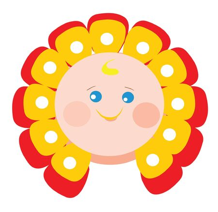 baby smile Vector