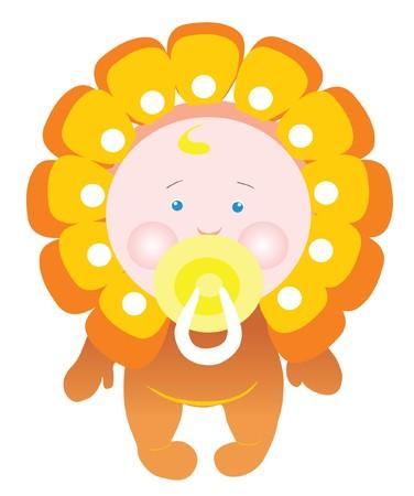 suckling: bambino neonato  Vettoriali