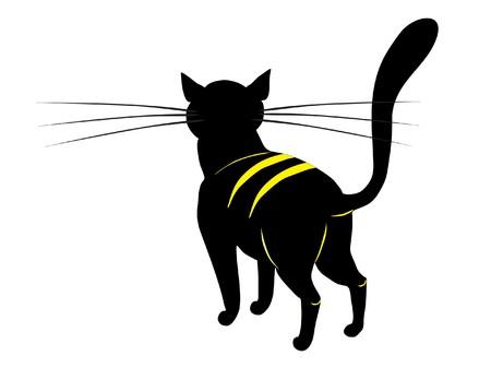 black cat Stock Vector - 7925034