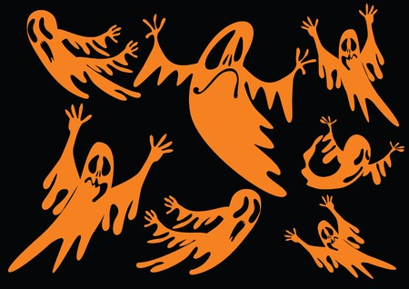 ghosts background Vector