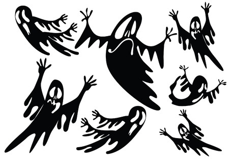 black ghosts Vector