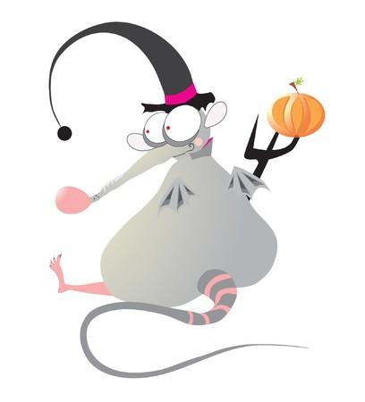 halloween rat Vector