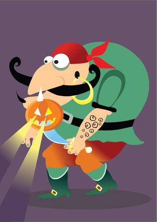halloween pirate Vector