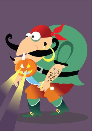halloween pirate Vector